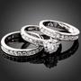 Ring - Tre ringer i ett (Tro, håp og kjærlighet) Sølvfarget
